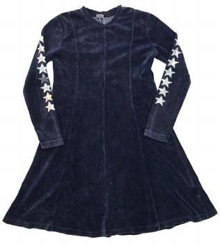 Velour Dress W/ Stars Indigo 2