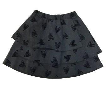 Skirt W/ Velvet Hearts Grey 10