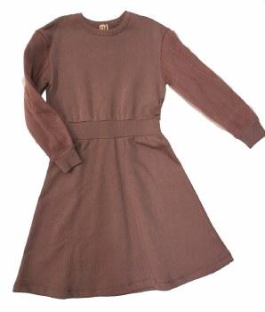Dress W/ Mesh Sleeves Mauve 5