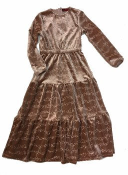 Velour Scribble Robe Mauve 5