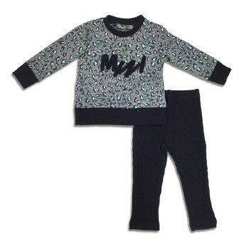 Printed Baby 2pc Black/Teal 18