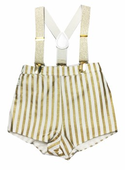 Gold Striped Overalls Gold 18M