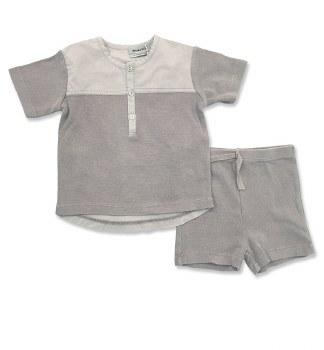 Textured Short Set Grey 18M