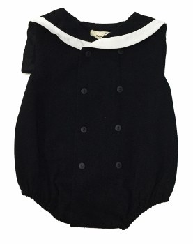 Romper W/ Collar Black/White 1