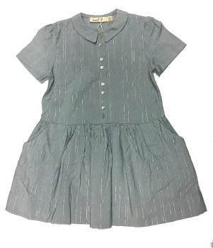 Dress W/ Silver Pinstripes Blu
