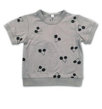 S/S Tshirt W/ Cherries Grey/Bl
