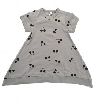 Dress W/ Cherries Grey/Black 3