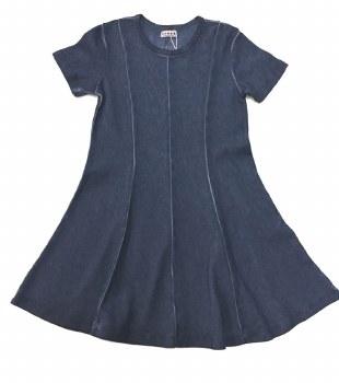 Panelled Denim Wash Dress Med