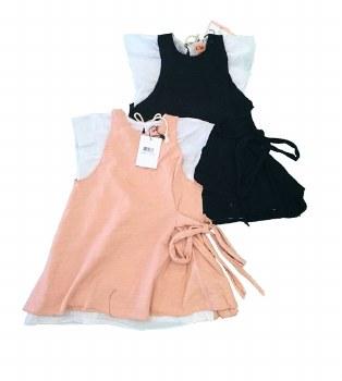 Dress W/ Sidetie Black/White 7