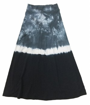 Tie Dye Long Skirt Blue 8