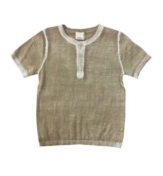 Cotton S/S Sweater Sand 12M