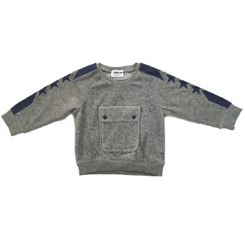 Velour Pocket Top Grey 14