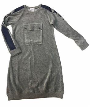 Velour Dress W/ Pocket Grey 5