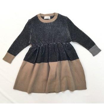 Ribbed Colorblock Dress Black/