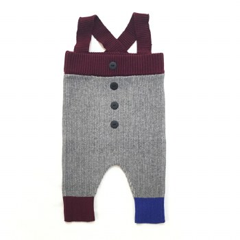Ribbed Overalls Grey/Wine 36M