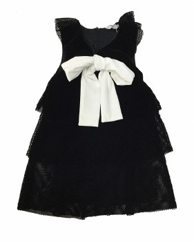 Velvet Mesh Dress Black 3