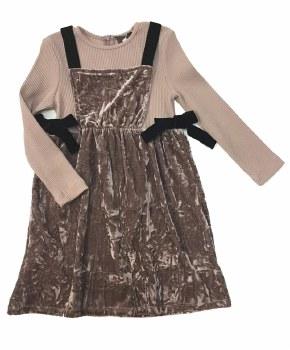 Velour Jumper Dress Mauve 4