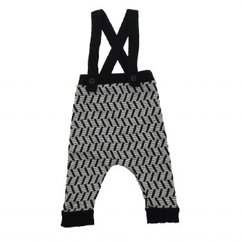 Geometric Overalls Black/White