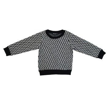 Geometric Sweater Black/White