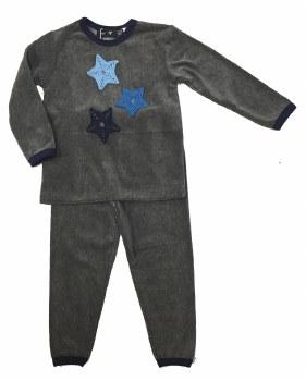 Velour PJ W/ Stars Grey/Blue 3
