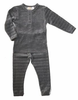 Velour Striped  PJ Grey 7