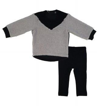 Ribbed Sherpa Set Black/Grey 1