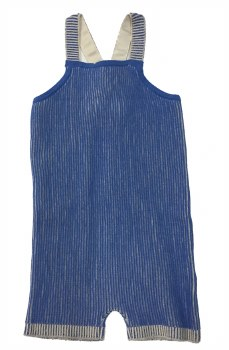 Ribbed Contrast Romper Blue 12