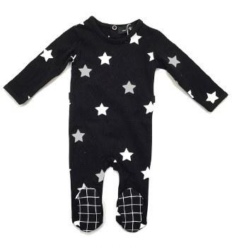 Stars Stretchie Black/Silver 1