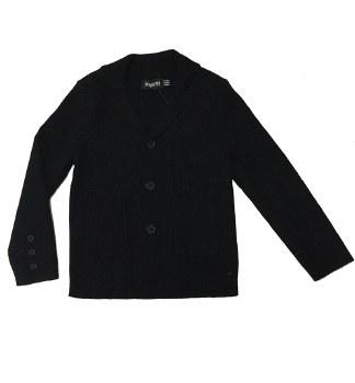 Ribbed Knit Blazer Black 3