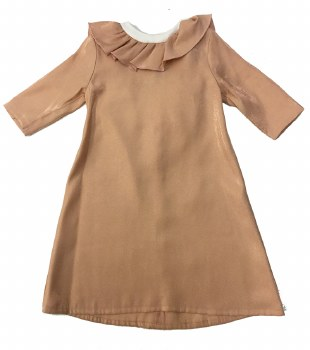 Dress W/ Ruffle Collar Pink 4