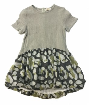 Dress W/ Metallic Bubble Grey