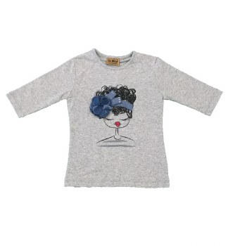 Girl Print Tshirt Grey 4