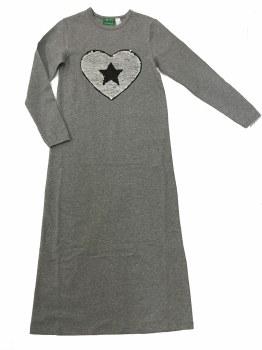 Nightgown w/ Sequin Heart Silv