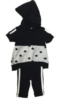 Colorblock Stars Baby Set Blac