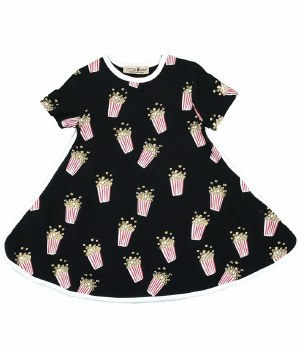 Popcorn Dress Black 8