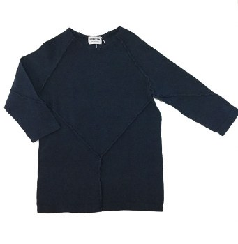 Ribbed Stitched Tshirt Blue 14