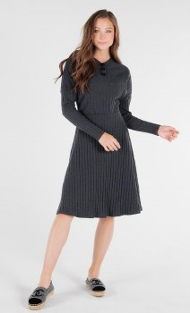 Ribbed Teen Dress Charcoal L(2