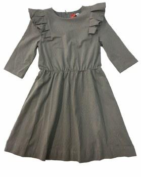 Dress W/ Ruffles Grey 8
