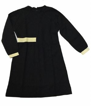 Dress W/ Metallic Trim Black 8