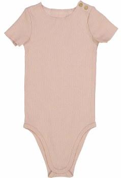 Lil Legs S/S Ribbed Onesie Nud