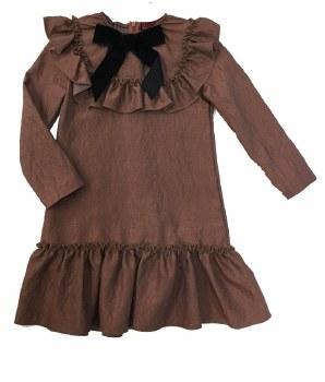 Dress W/ Ruffle Copper 5