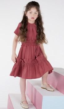 Dress w/ Bottom Ruffle Coral 6