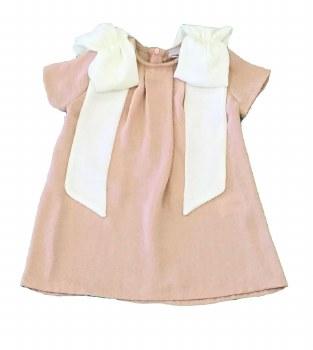 Dress W/ Shoulder Bows Blush 1