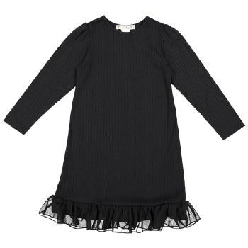 Rib Nightgown Black 14
