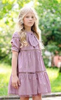 Eyelet Dress Mauve 10