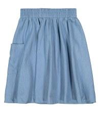 Denim Pocket Skirt Light 6