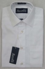 L/S Diagonal Lined Shirt White