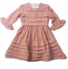 Dress W/ Pleated Tucks Pink 4