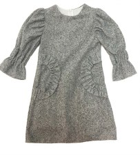 Dress W/ Ruffled Trim Grey 10