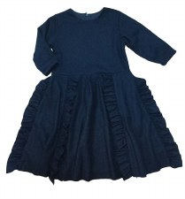 Dress W/ Side Ruffles Blue 6